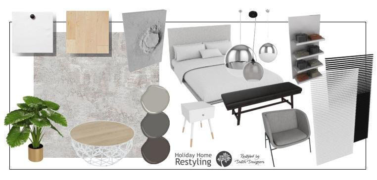 moodboard holiday home restyling