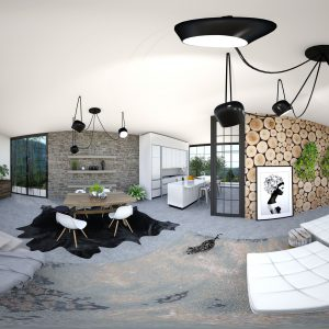 virtual reality VR holiday home restyling